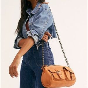 Free People Dylan chain leather mini duffle-NWT